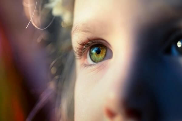 Brand engagement, what we do, image of a girl's eye, our work